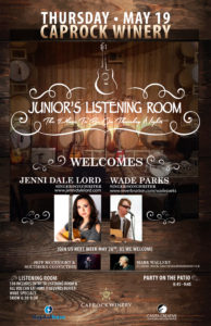 Jenni and Wade at Listening Room Poster